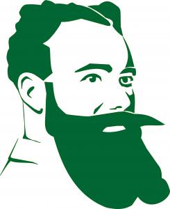 kopf grün weißer bg
